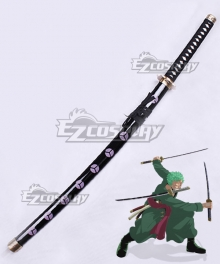 One Piece Roronoa Zoro Shusui Sword Scabbard Cosplay Weapon Prop