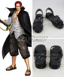 One Piece Shanks Black Cosplay Shoes