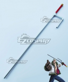 One Piece Smoker Seastone-tipped Jitte Cosplay Weapon Prop