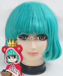 One Piece Sugar Blue Green Cosplay Wig