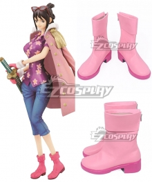 One Piece Tashigi Pink Shoes Cosplay Boots