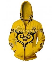 One Piece Trafalgar D Law Golden Hoodie Cosplay Costume