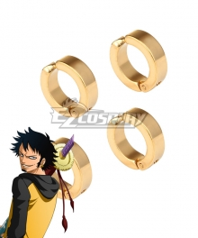 One Piece Trafalgar D Water Law Ear clip Cosplay Accessory Prop