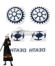 One Piece Trafalgar Law Tattoo stickers Cosplay Accessory Prop