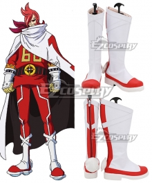 One Piece Vinsmoke Ichiji White Red Shoes Cosplay Boots