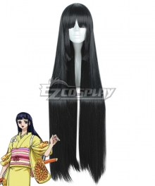 One Piece Wano Country Arc Kikunojo Okiku Black Long Cosplay Wig