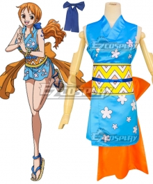 One Piece Wano Country Arc Nami Kimono Cosplay Costume
