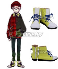Ookami Game Wolf Game Yukinari Shimotsuki White Yellow Cosplay Shoes