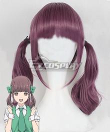Oshi ga Budoukan Ittekuretara Shinu Aya Yokota Purple Cosplay Wig