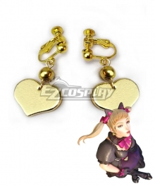 Overwatch OW Black Cat Skin D.Va Dva Hana Song Earrings Ear Clips Cosplay Accessory Prop