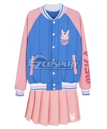 Overwatch OW D.Va DVa Hana Song Baseball Uniform Cosplay Costume
