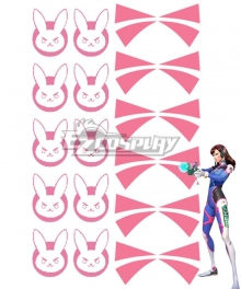 Overwatch OW D.Va DVa Hana Song Tattoo sticker Cosplay Accessory Prop