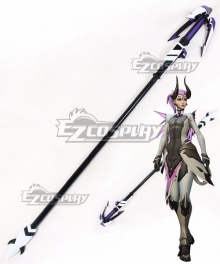 Overwatch OW Imp Skin Mercy Staff Cosplay Weapon Prop