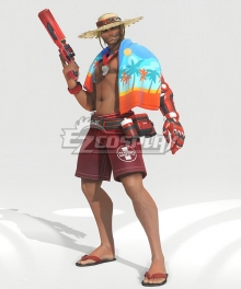 Overwatch OW Jesse McCree LifeGuard Summer Swimsuit Cosplay Costume