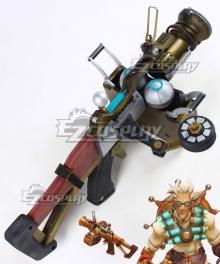 Overwatch OW Junkrat Jamison Fawkes Dr. Junkenstein Gun Cosplay Weapon Prop