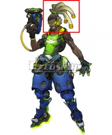 Overwatch OW Lucio DJ Brown Cosplay Wig