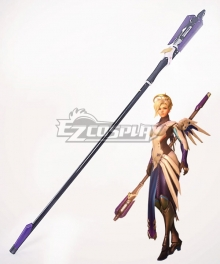 Overwatch OW Mercy Angela Ziegler Celestial Caduceus Staff Staves Cosplay Weapon Prop