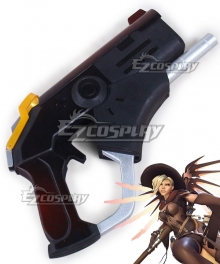 Overwatch OW Mercy Angela Ziegler Witch Skin Gun Cosplay Weapon Prop