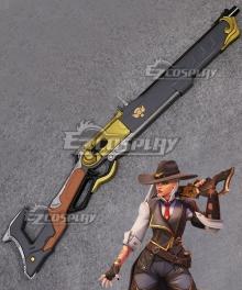 Overwatch OW New Hero Ashe Gun Cosplay Weapon Prop