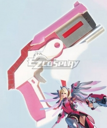 Overwatch OW Pink Mercy Charity Skin Mercy Angela Ziegler Gun Cosplay Weapon Prop