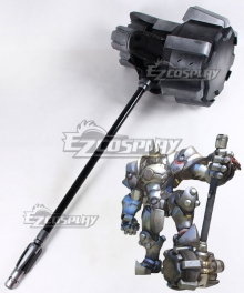 Overwatch OW Reinhardt Wilhelm Rocket Hammer Cosplay Weapon Prop