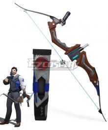 Overwatch OW Shimada Hanzo Scion Hanzo Skin Bow Cosplay Weapon Prop