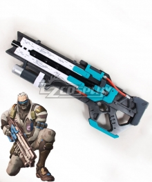 Overwatch OW Soldier 76 John Jack Morrison Bone Gun Cosplay Weapon Prop