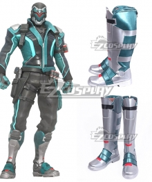 Overwatch OW Soldier 76 John Jack Morrison Viper is Worthy of Cobra Commander Himself Silver Shoes Cosplay Boots
