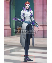 Overwatch OW Storm Rising Skin Scientist Moira Black Cosplay Shoes