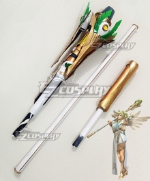 Overwatch OW Summer Games 2017 Winged Victory Mercy Skin Staff Cosplay Weapon Prop
