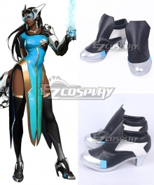 Overwatch OW Symmetra Satya Vaswani Black Cosplay Shoes