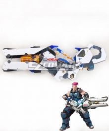 Overwatch OW Zarya Aleksandra Zaryanova Particle Cannon Cosplay Weapon Prop