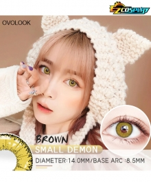 OVOLOOK Ice and Snow Frozen Brown Yellow Himiko Toga Zenitsu Agatsuma Chihiro Fujisaki Cosplay Contact Lense