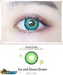 OVOLOOK Ice and Snow Frozen Green Rantaro Amami Izuku Midoriya Mitsuri Kanroji Cosplay Contact Lense