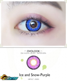 OVOLOOK Ice and Snow Frozen Purple Patchouli Knowledge Homura Akemi Kokichi Oma Cosplay Contact Lense