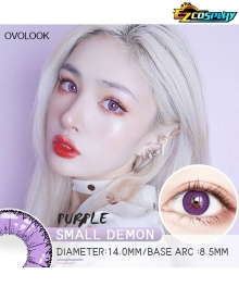OVOLOOK Small Demon Kaito Momota Toko Fukawa Shinobu Kocho Little Devil Purple Cosplay Contact Lense