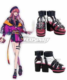 Paradox Live BAE Anne Faulkner Black Shoes Cosplay Boots