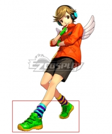 Persona 3: Dancing Moon Night Ken Amada Green Cosplay Shoes