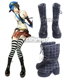 Persona 4 The Golden Marie Black Shoes Cosplay Boots