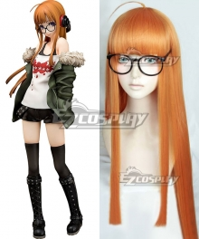Persona 5 Futaba Sakura Orange Cosplay Wig - Only Wig