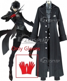 Persona 5 Joker Protagonist Akira Kurusu Ren Amamiya Cosplay Costume-Only Gloves