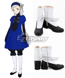 Persona 5 Lavenza Black White Shoes Cosplay Boots