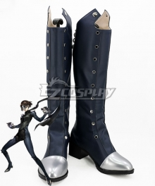 Persona 5 Queen Makoto Niijima Deep Grey Shoes Cosplay Boots - B Edition