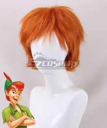 Peter Pan: The Boy Who Wouldn't Grow Up Peter Pan Orange Cosplay Wig