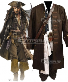 Pirates of the Caribbean Jack Sparrow Halloween Cosplay Costume