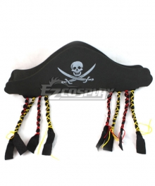 Pirates of the Caribbean Captain Jack Sparrow Pirate Hat B Halloween Cosplay Accessory Prop