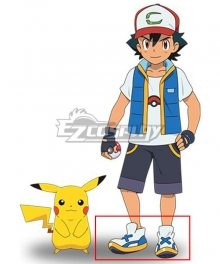 Pocket Monsters the Movie: Coco 2020 Anime Satoshi Ash Ketchum White Cosplay Shoes