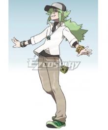 Pokémon Black White Pocket Monster Natural Harmonia Gropius N  Cosplay Costume