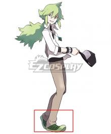 Pokémon Black White Pocket Monster Natural Harmonia Gropius N Green Cosplay Shoes