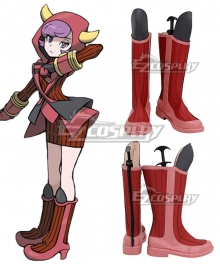 Pokémon Omega Ruby Pokemon Pocket Monster Courtney Red Shoes Cosplay Boots